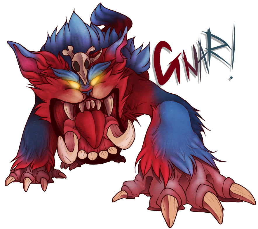 Gnar drawing cartoon. By hanjidile on deviantart