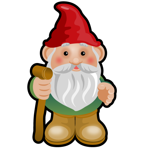Gnome vector simple garden. Gnomes clipart group with