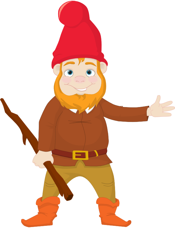 Gnome vector friendly. Library line huge