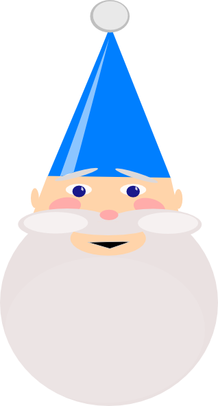Gnome vector hat. With blue clip art