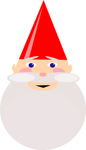 Gnome vector hat. With red clip art
