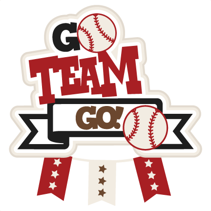 Go clip team. Baseball svg scrapbook title