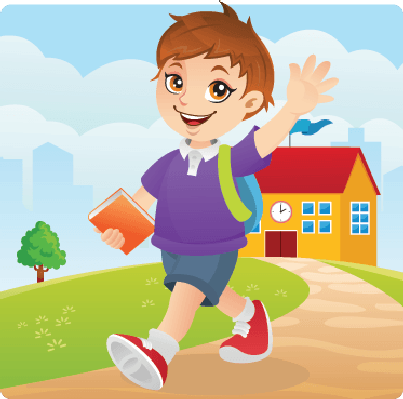 Go clipart school. To cute boy going