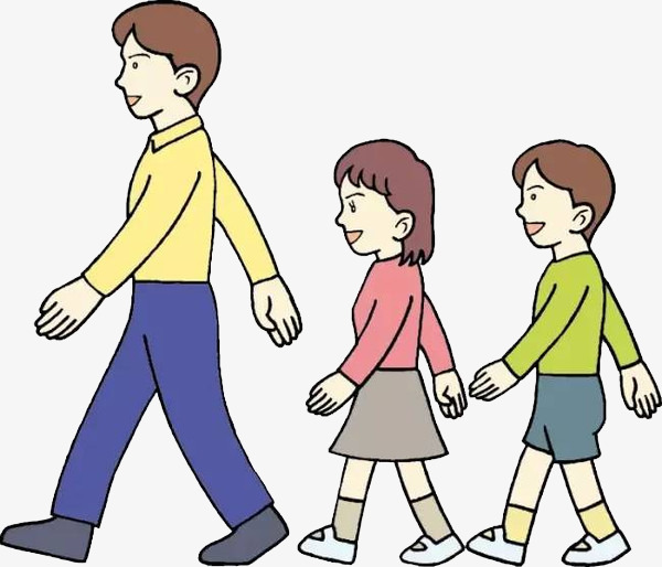Walk clipart walk in line. Up together go move