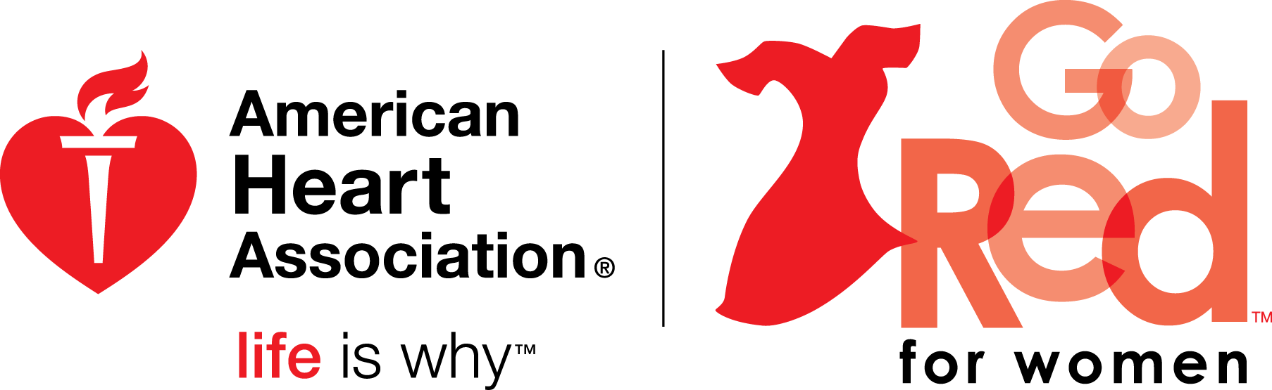 go red for women logo png