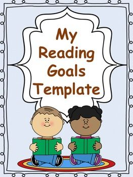 Goal clipart classroom goal. Primary reading goals templates