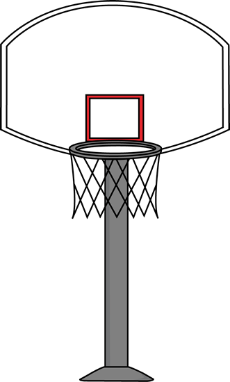 goal drawing basketball hoop