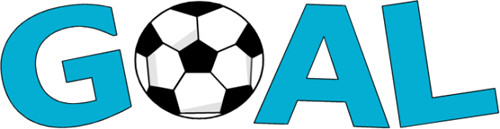 With soccer ball clip. Word clipart goal png royalty free stock