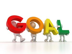 Goal clipart word. Football trading profits people
