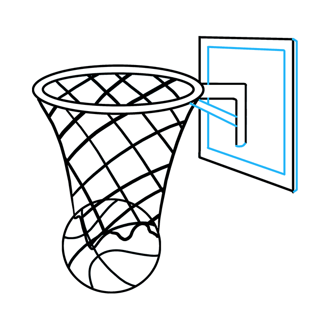 Goal drawing. Basketball www imagenesmi com