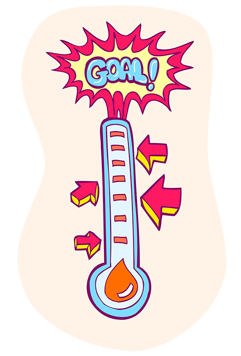 reaching your goal thermometer png