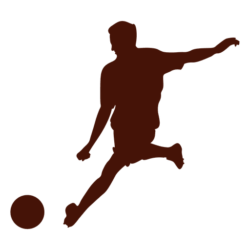 Goal transparent png. Football kick silhouette svg