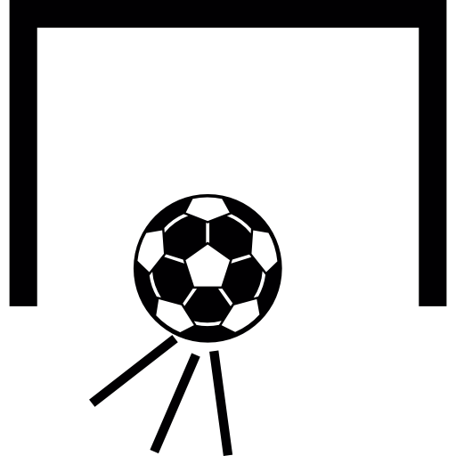 Goal vector abstract. Soccer ball icons free