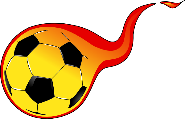 Soccer ball clipart fire. Flaming clip art at