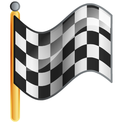 Goal vector flag. Checkered icon download free
