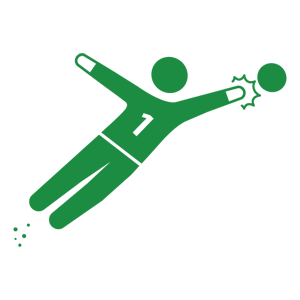 Goal vector keeper. Human pictogram free pictograms