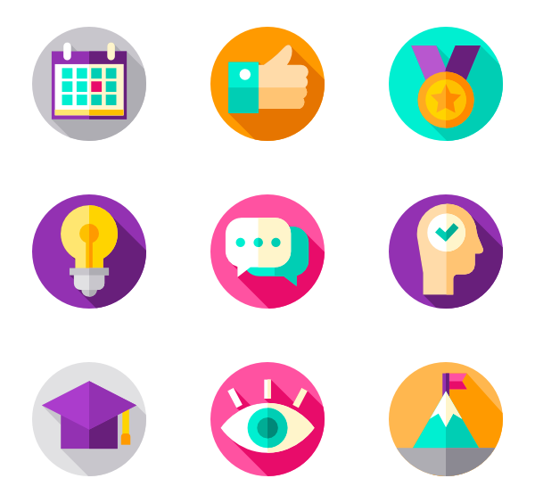 Package vector creative. Objective icons free motivation