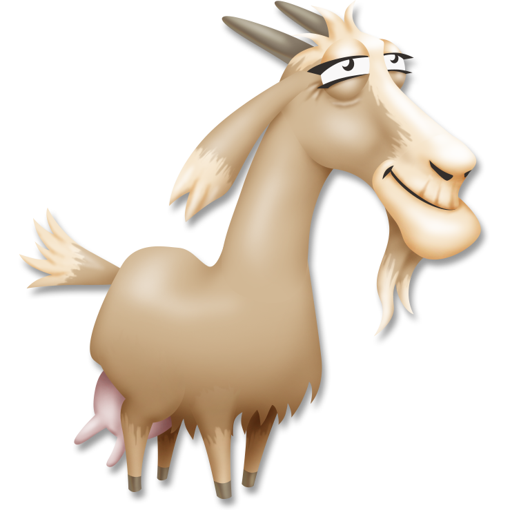 Funny goat png. Image hay day wiki
