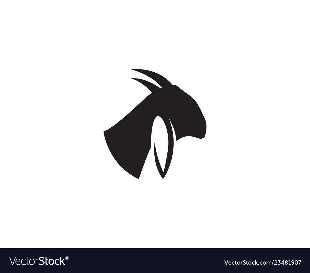 Goat claw. Head logo template