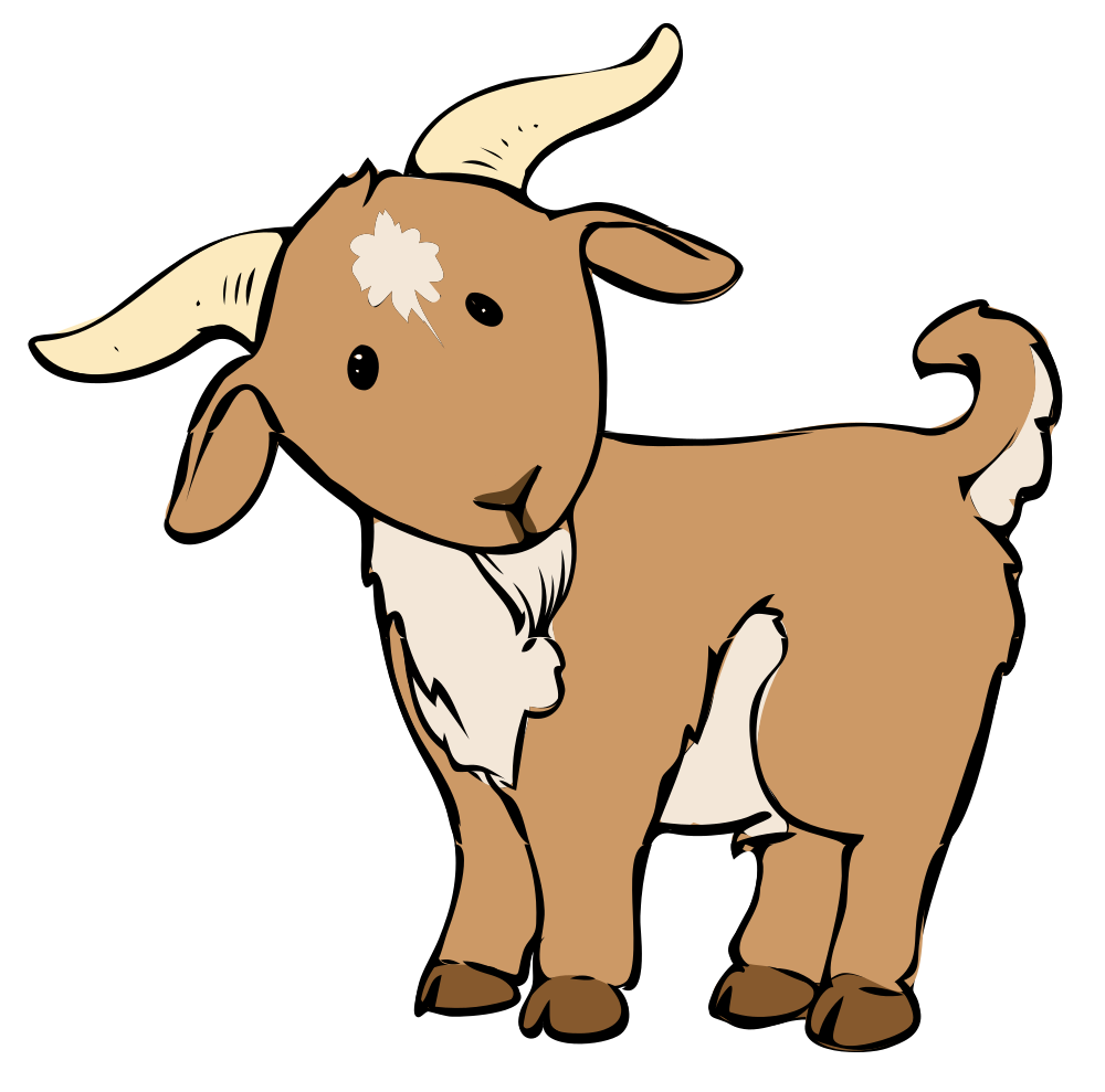 Goat clipart. Of typegoodies me