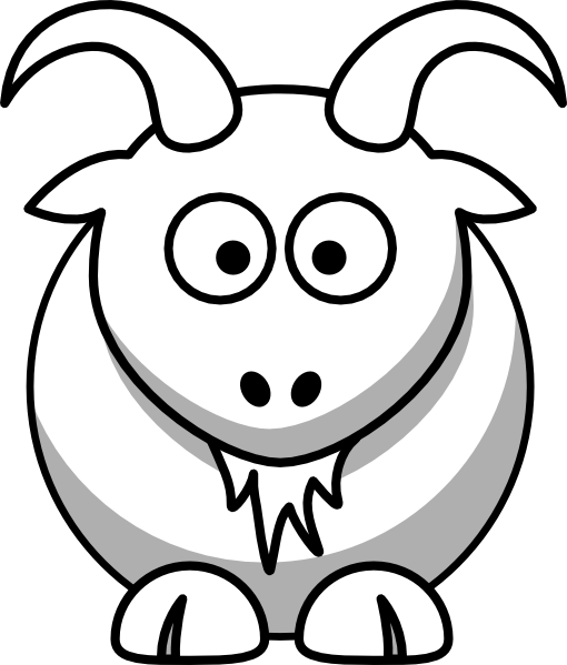 Drawing goats cute. Boer goat outline clipart