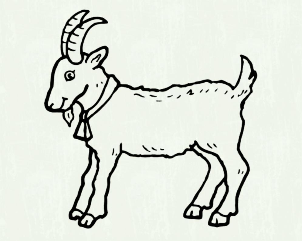 Goat clipart little. Lamb pencil and in