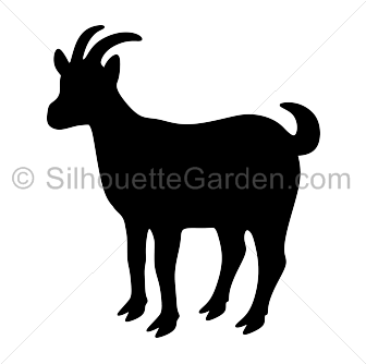 Pin by muse printables. Goat silhouette png image black and white stock