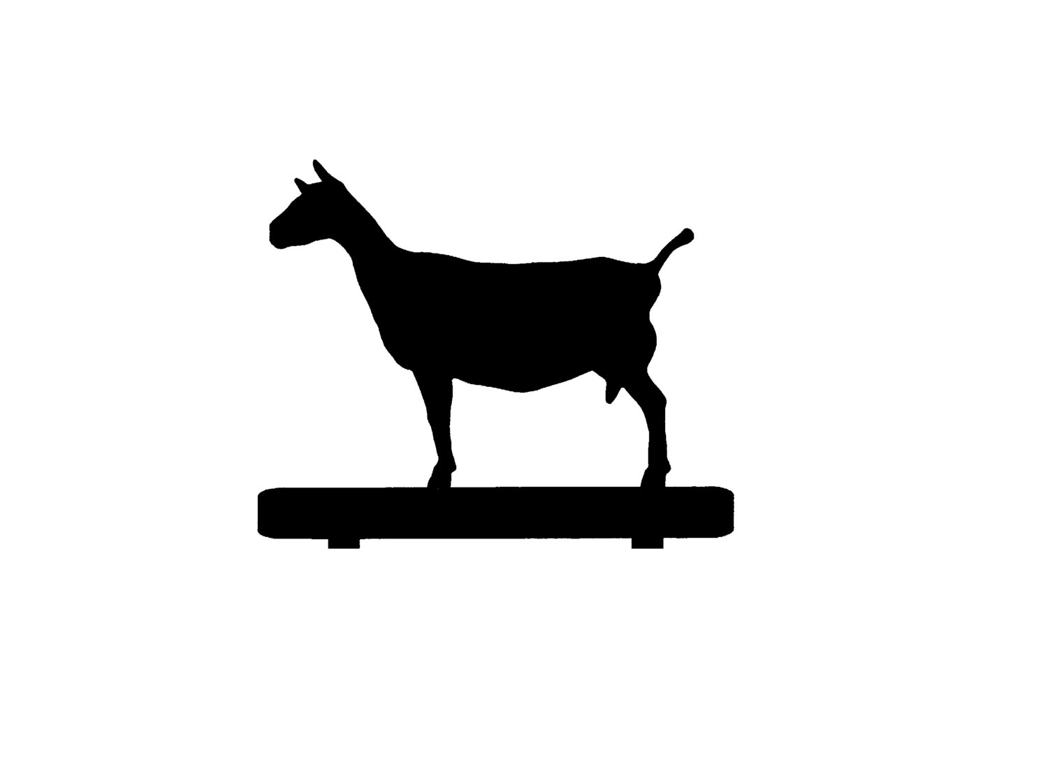 Goat clipart nigerian dwarf goat. Nubian silhouette at getdrawings