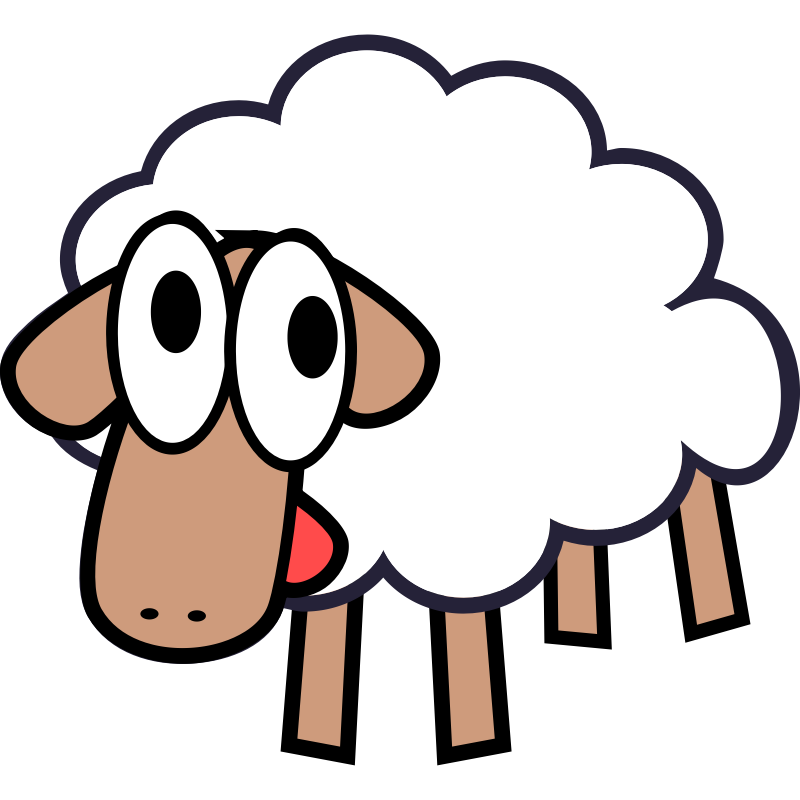 Sheep clipart three. Free cartoon pictures download