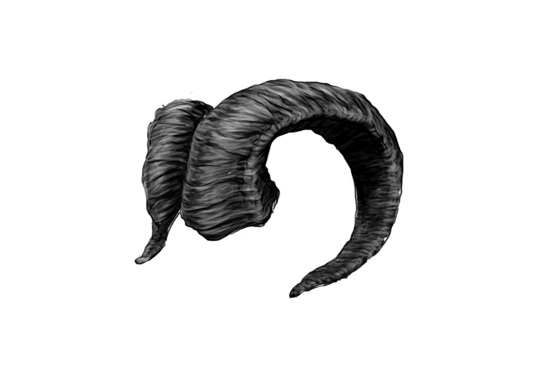Demonic animal demon cool. Goat horns png picture black and white library