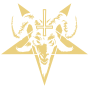 Goat pentagram png. Satanic head with inverted