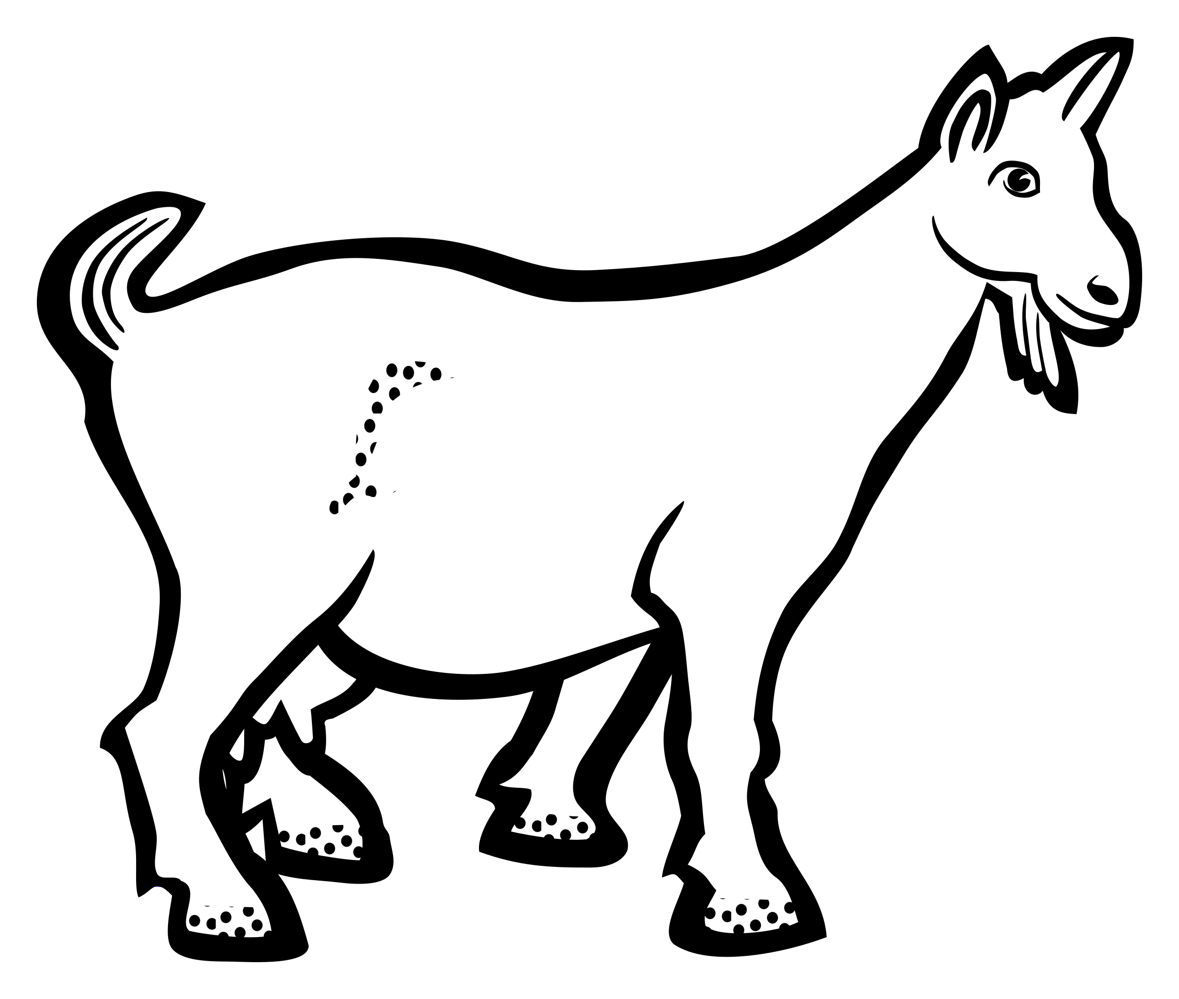 Goat .png. Lineart icons png free