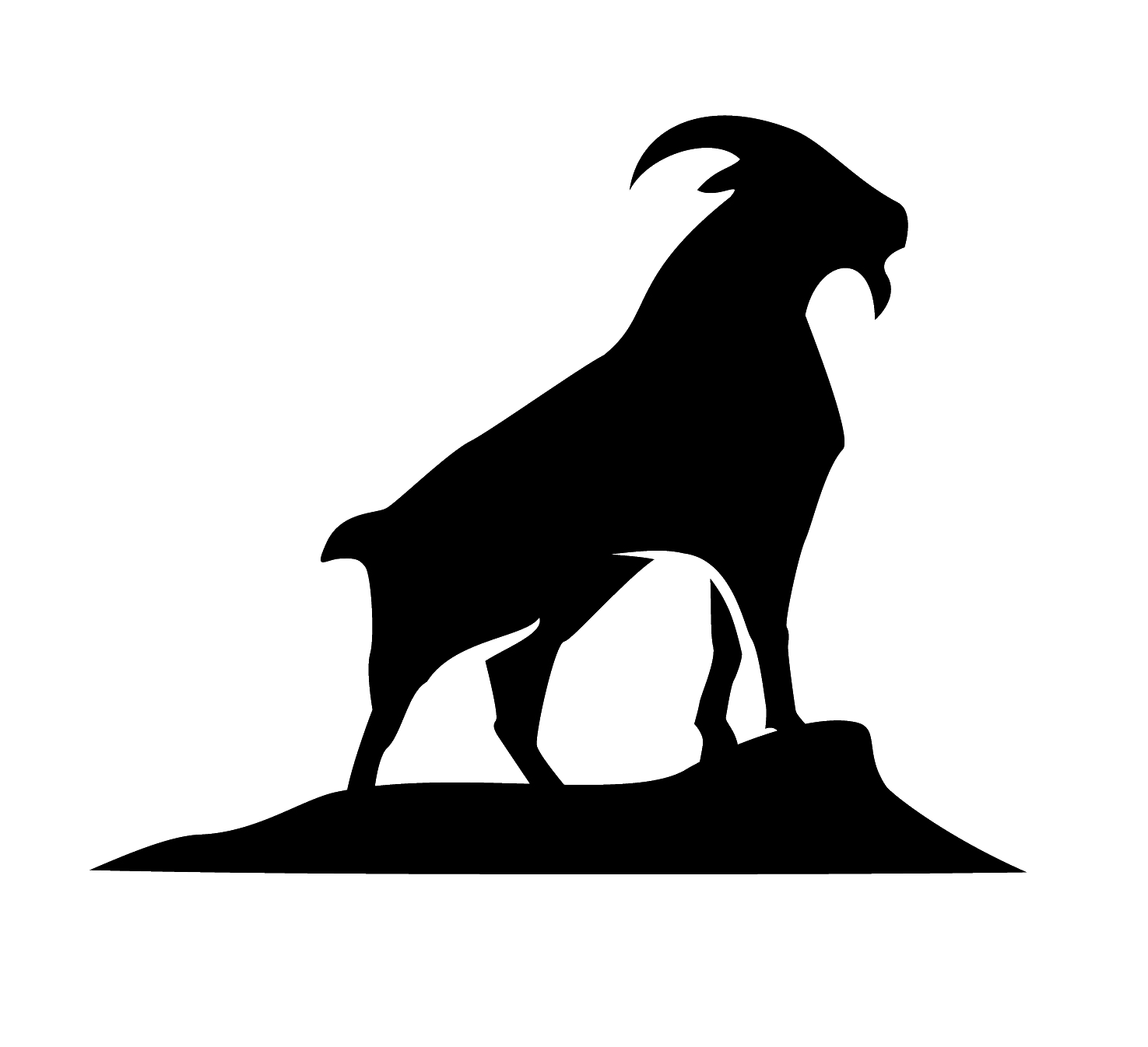 Get your on island. Goat silhouette png png download