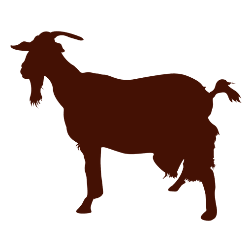 Goat silhouette png. Farm transparent svg vector