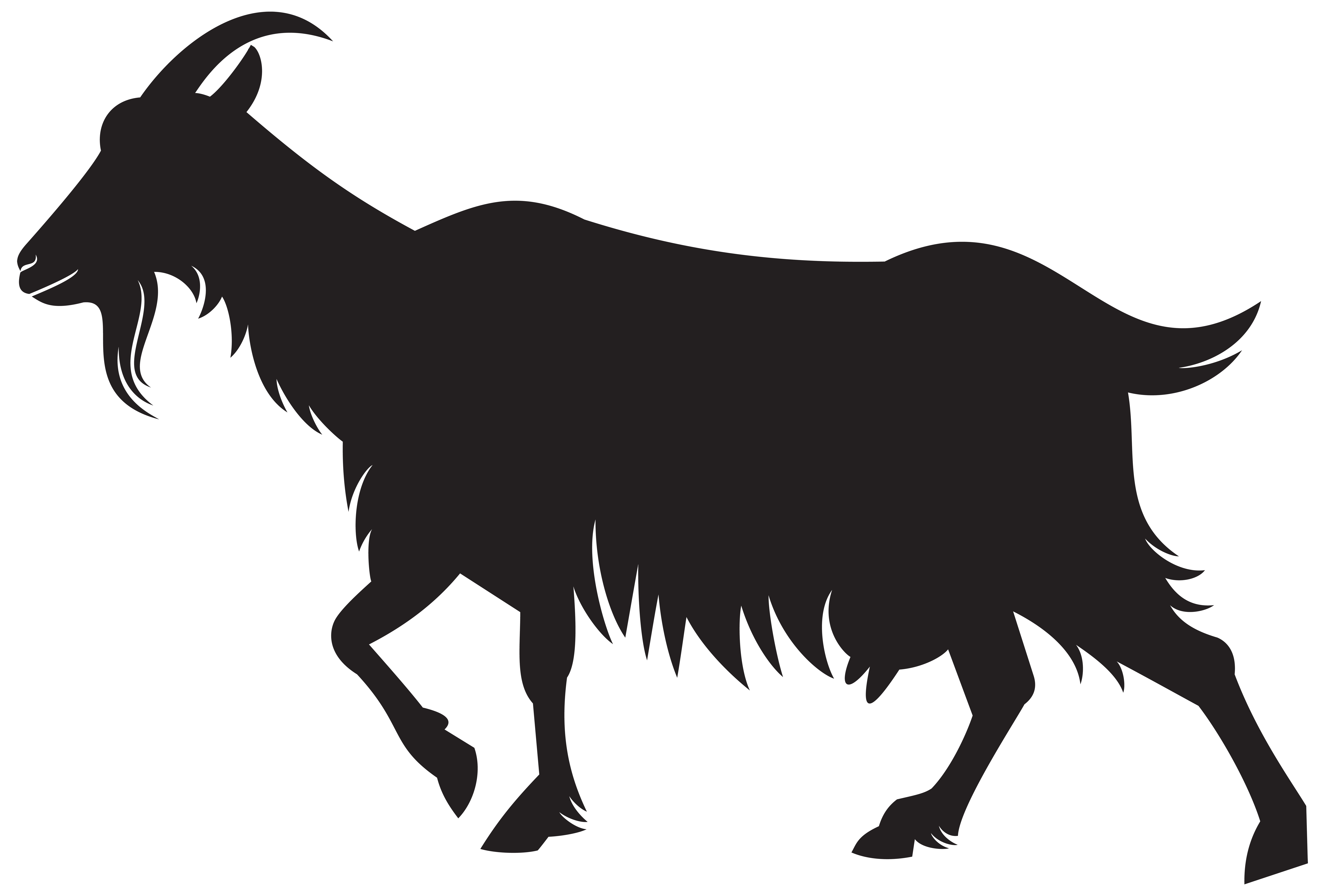 Goat silhouette png. Clip art image gallery