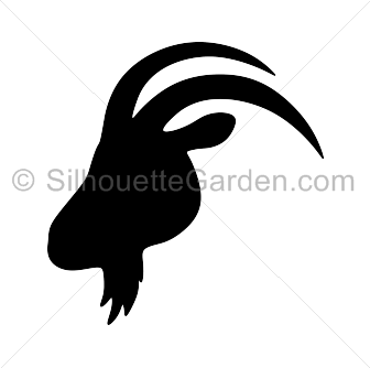 Goat silhouette png. Head