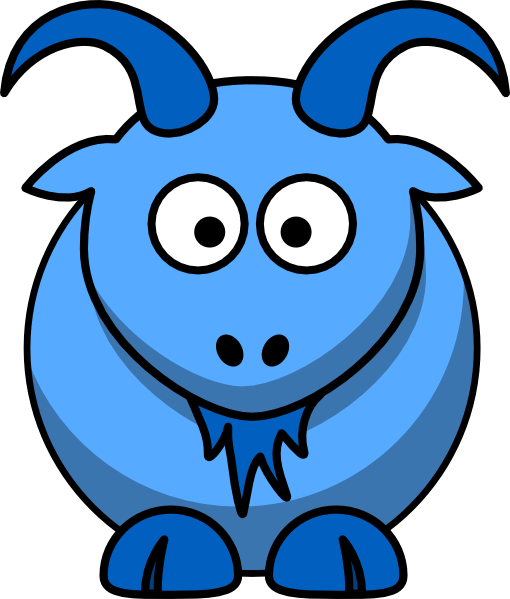 Goat vector png. Blue clip art at