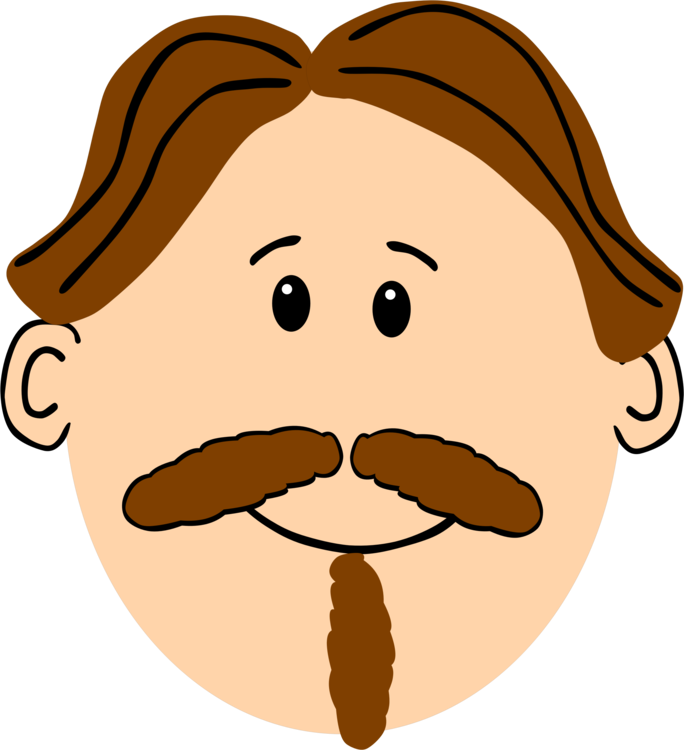 Goatee drawing cartoon beard. Moustache brown hair free