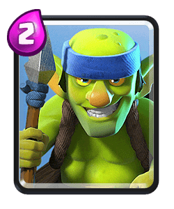 Goblin clash royale png. Spear goblins common card
