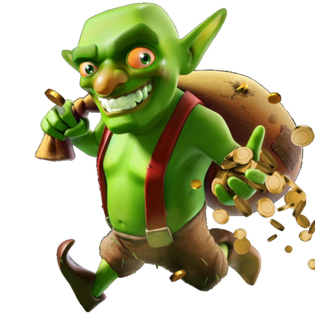 Goblin clash royale png. Of clans green free