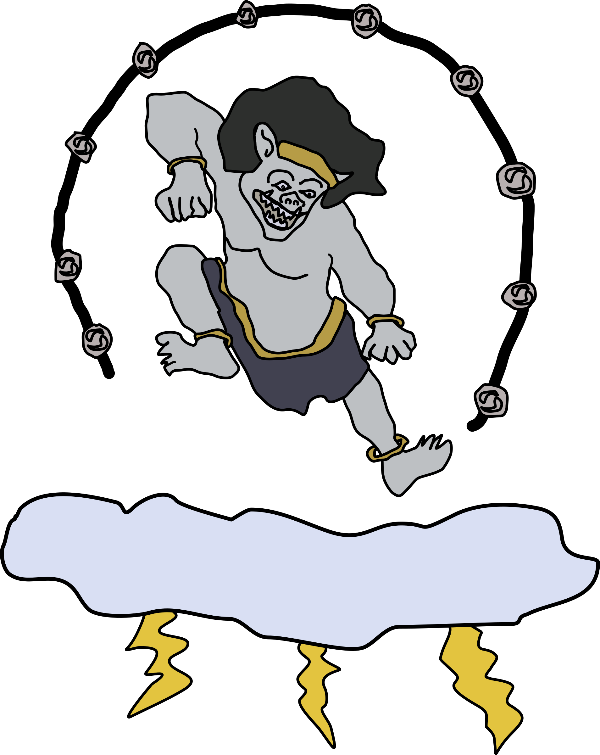 transparent god thunder