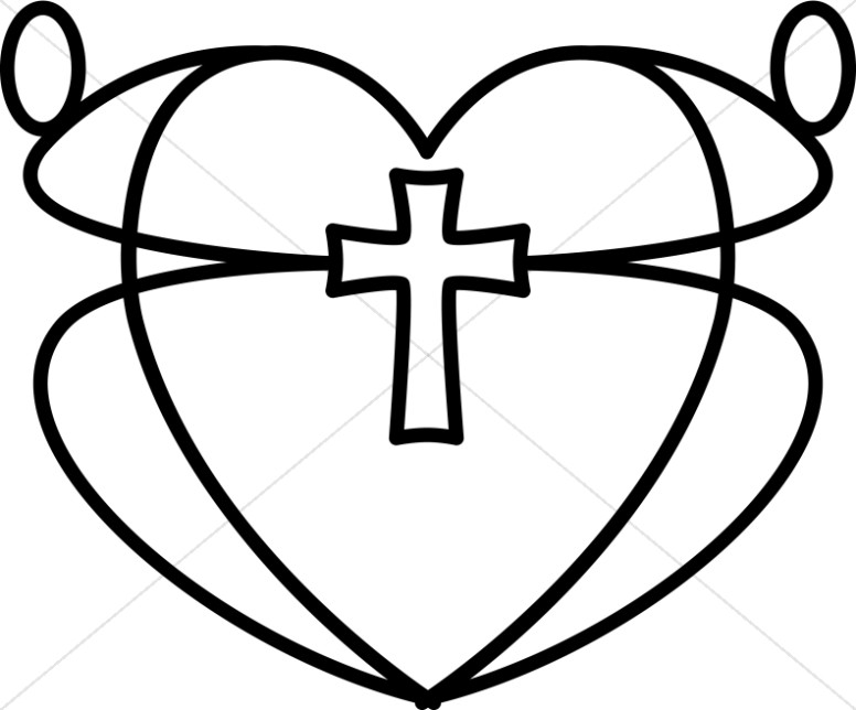 Worship clipart heart. Black and white graphic