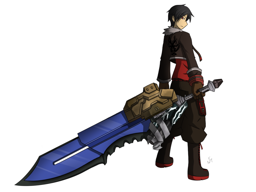 God eater anime png. Commission by rakkuguy on