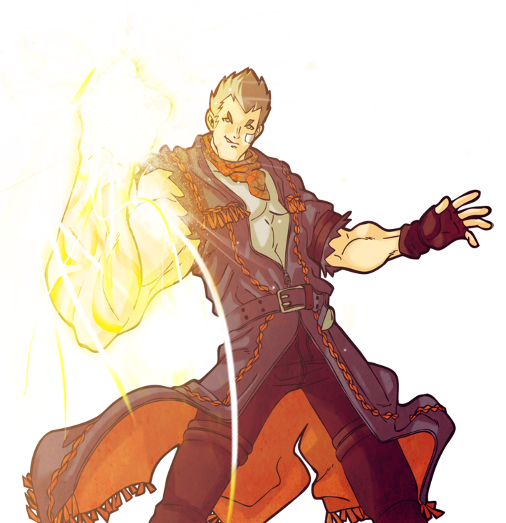 God hand png. Gene from game art