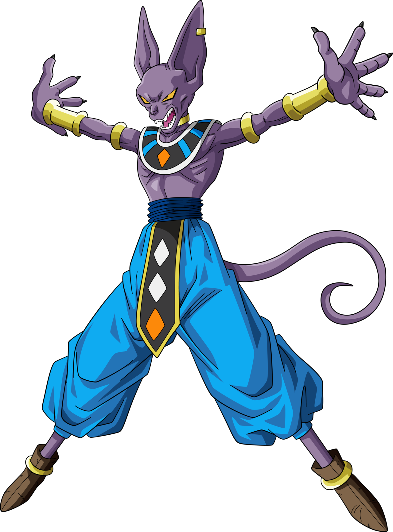 beerus transparent aura