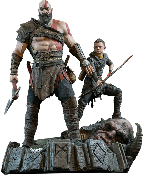 God of war 2017 png. Ps statue by sony