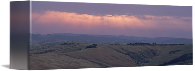 God rays png. Tuscany italy by panoramic