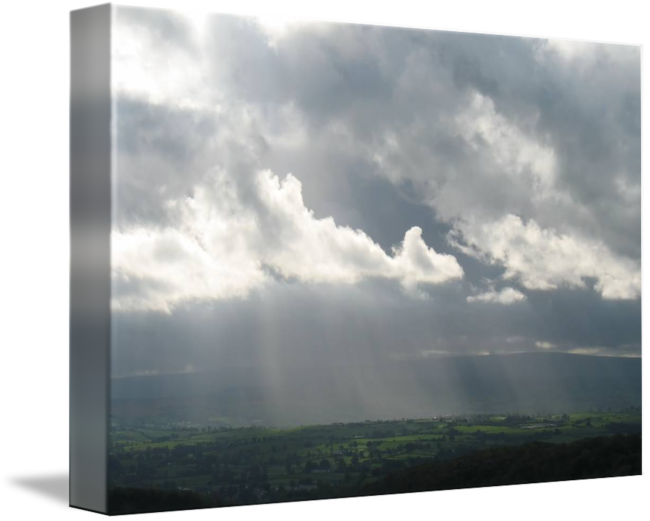 God rays png. Yorkshire dales by jonathan