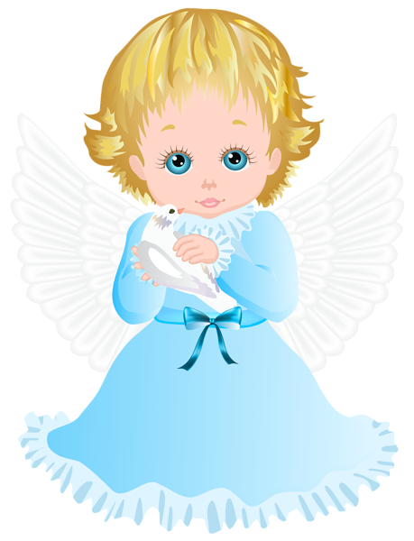 Godly angels png. Cute angel with white