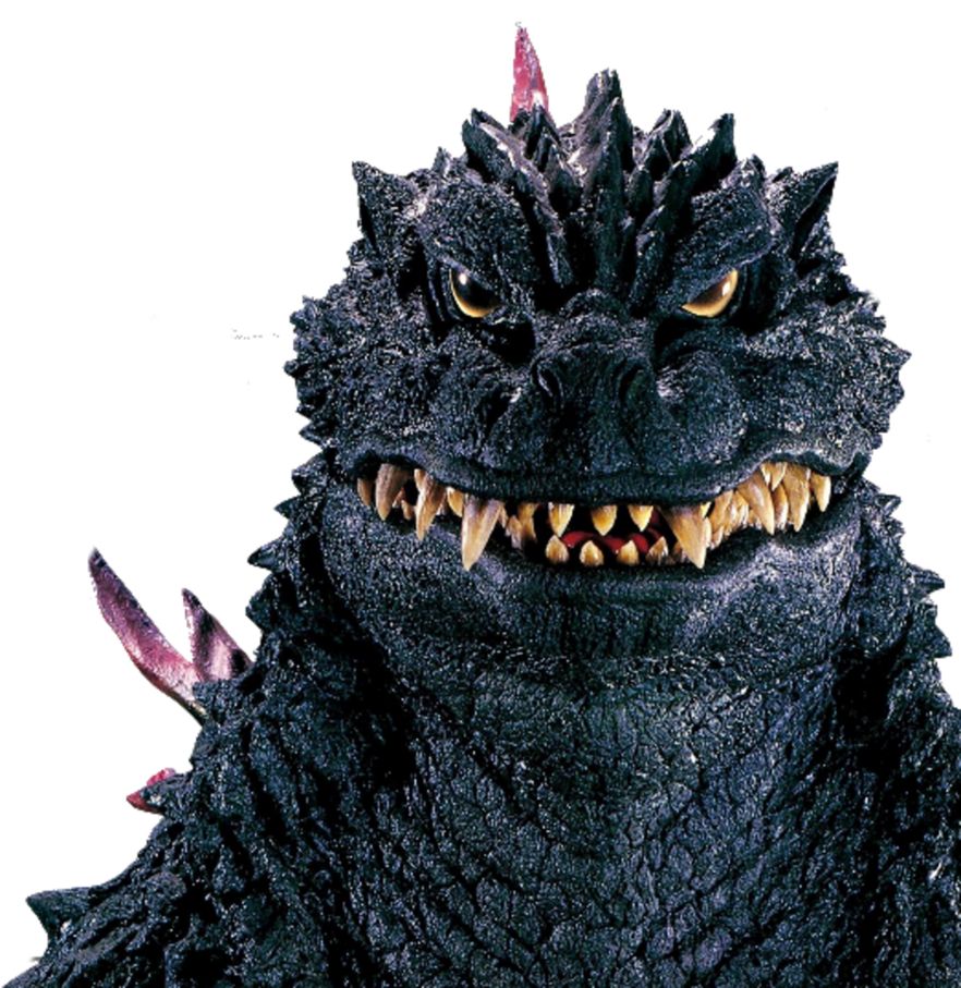 Godzilla face png. Front view by ltdtaylor